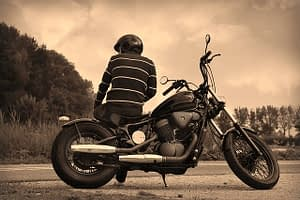 Motocicleta custom grande